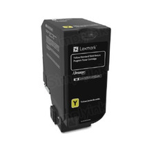 Lexmark OEM Yellow Laser Toner Cartridge, 74C1SY0 (CS720/CS725/CX725) (7,000 Page Yield)u00a0