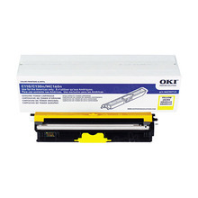 Original High Yield Yellow Laser Toner Cartridge for Okidata 44250713 2.5K Page Yield
