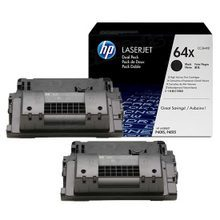 HP 64X (CC364XD) Black High Yield Original Toner Cartridge in Retail Packaging