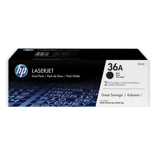Original HP CB436AD (36A) Black Toner