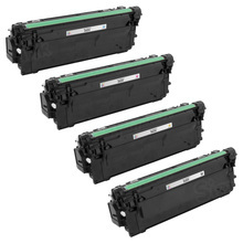 Canon 040 (Black, Cyan, Magenta & Yellow) Set of 4 Laser Toner Cartridges - Compatible