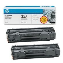 HP 35A (CB435AD) Black Original Toner Cartridge in Retail Packaging