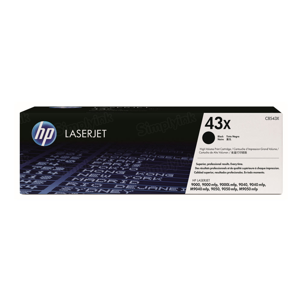 Original HP C8543X (43X) HY Black Toner