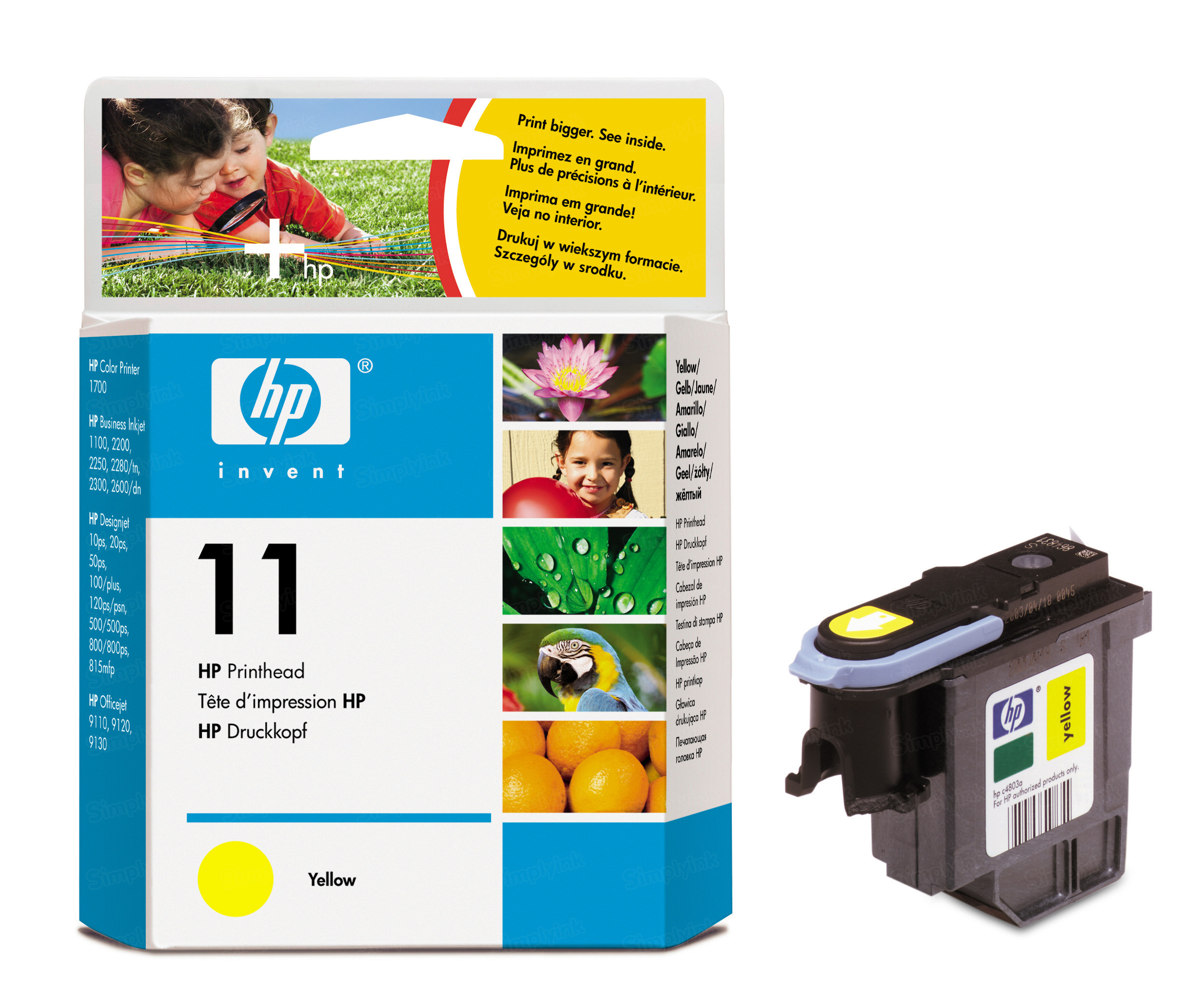 HP 11 Yellow Original Printhead C4813A