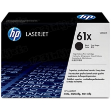 HP 61X (C8061X) Black High Yield Original Toner Cartridge in Retail Packaging