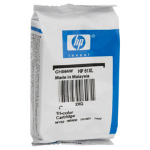 Genuine HP 61XL Color Ink Cartridge (CH564WN) High-Yield - Foil Wrapped