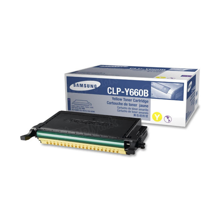 Samsung CLP-Y660B High Yield Yellow Toner