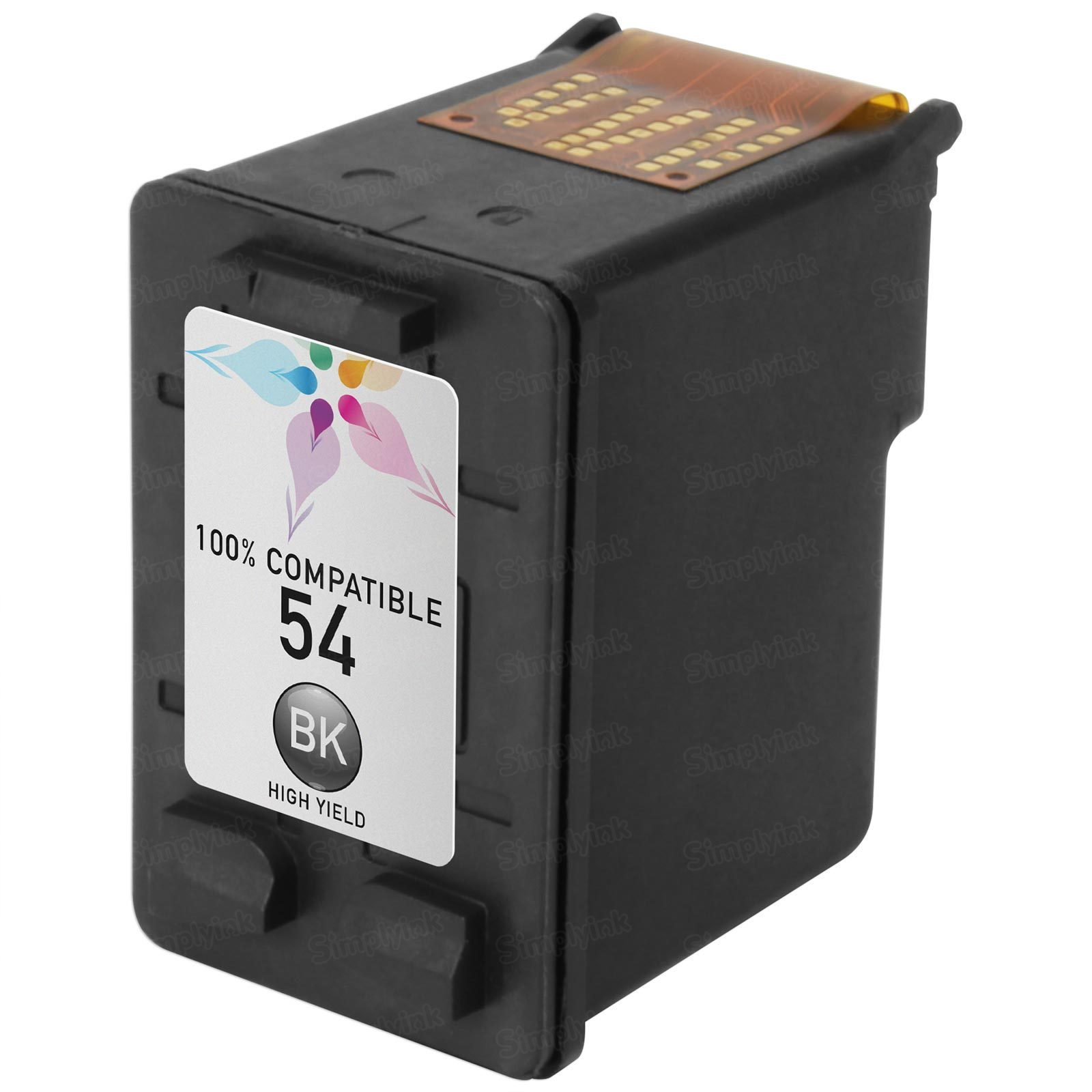 Remanufactured Replacement HY Black Ink for HP CB334AN (HP 54)