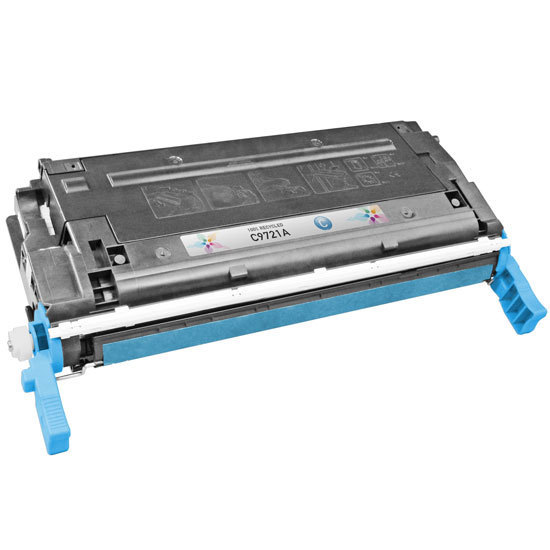 Remanufactured Replacement Cyan Laser Toner for HP 641A