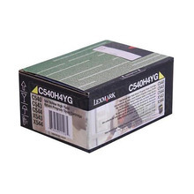 Lexmark OEM High Yield Yellow Laser Toner Cartridge, C540H4YG (C540dw / X543dn) (2,000 Page Yield)u00a0