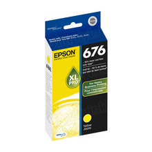 Original Epson 676XL Yellow Inkjet Cartridge (T676XL420), High-Capacity