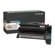 Lexmark OEM High Yield Cyan Return Program Laser Toner Cartridge, 10B042C (C750/X750 Series) (15K Page Yield)
