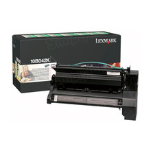 Lexmark OEM High Yield Black Return Program Laser Toner Cartridge, 10B042K (C750/X750 Series) (15K Page Yield)