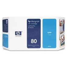 Original HP 80 Cyan Ink Cartridge in Retail Packaging (C4846A) 350ml