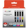 Canon CLI-251 Color OEM Ink Cartridge 4PK