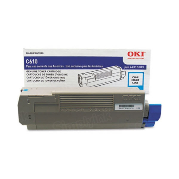 OEM Okidata 44315303 Cyan Toner Cartridge