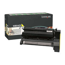 Lexmark OEM High Yield Yellow Return Program Laser Toner Cartridge, 10B042Y (C750/X750 Series) (15K Page Yield)