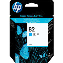 Original HP 82 Cyan Ink Cartridge in Retail Packaging (C4911A) High-Yield