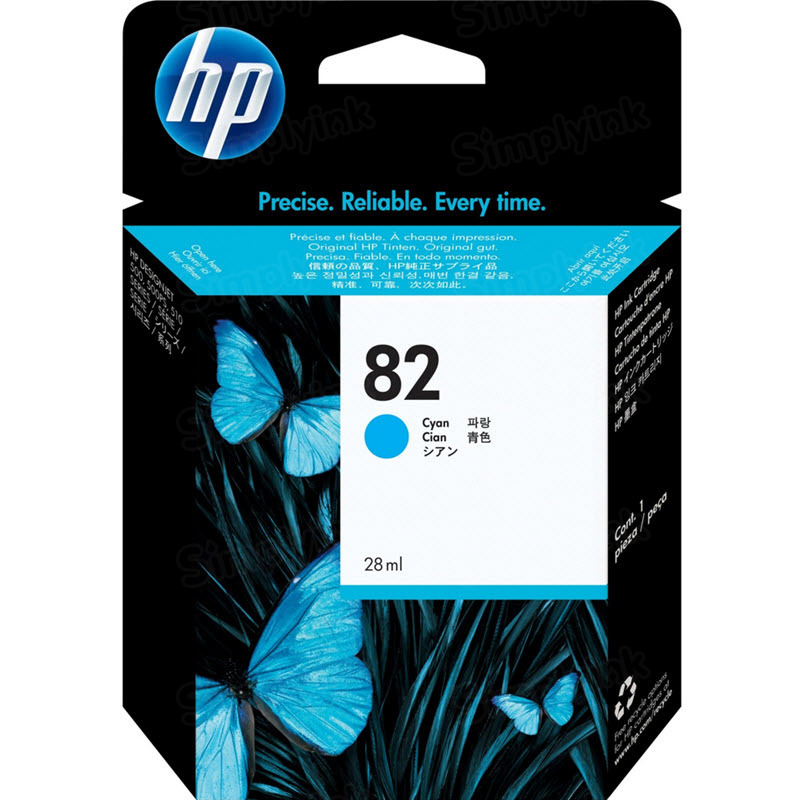 HP 82 Cyan Original Ink Cartridge C4911A