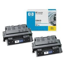 HP 61A (C8061D) Black High Yield Original Toner Cartridge in Retail Packaging