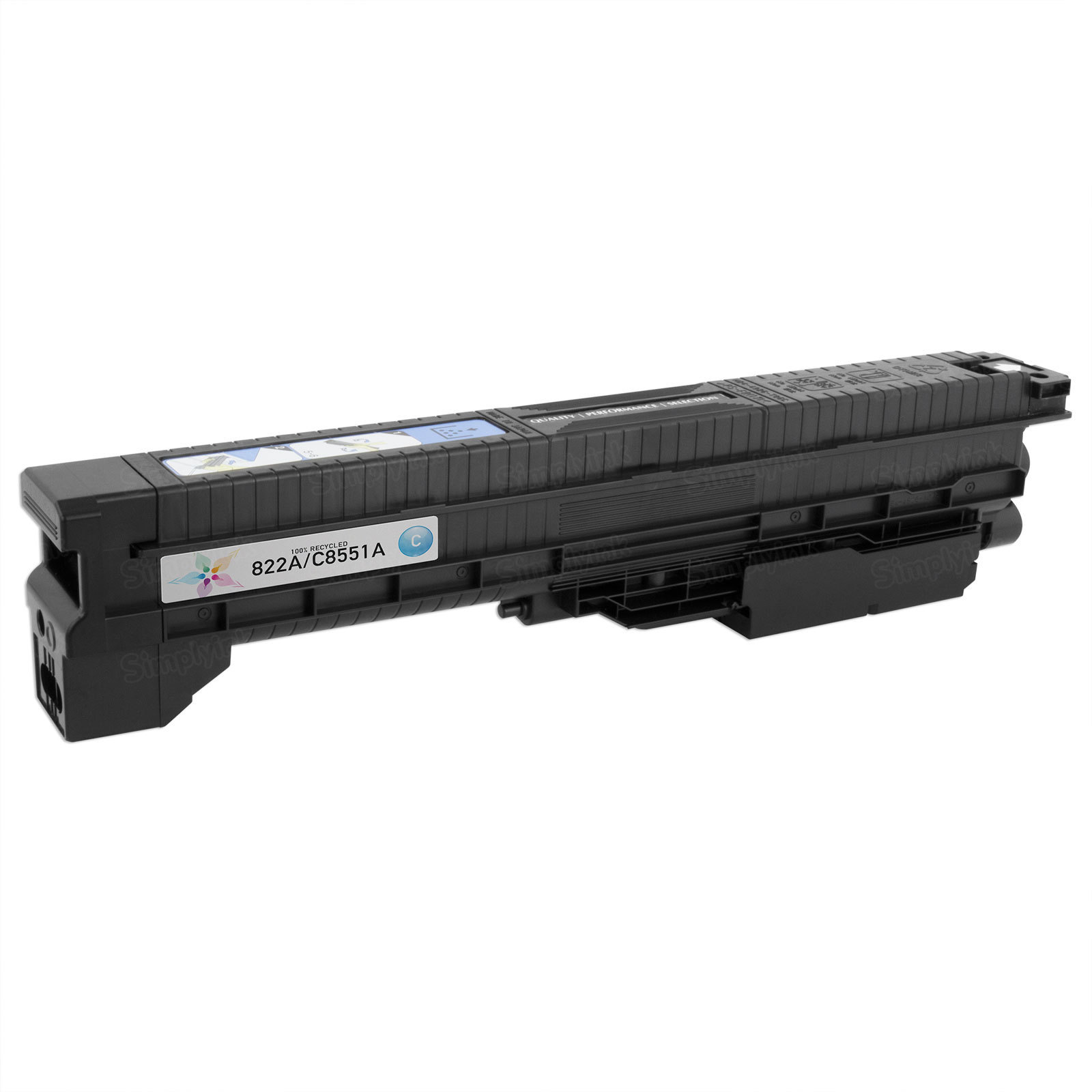 Remanufactured Replacement Cyan Laser Toner for HP 822A