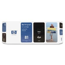 Original HP 81 Black Ink Cartridge in Retail Packaging (C4930A)