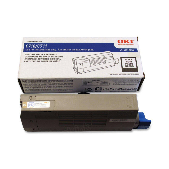 OEM Okidata 44318604 Black Toner Cartridge