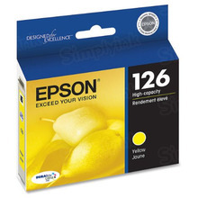 Original Epson 126 Yellow Inkjet Cartridge (T126420), High-Capacity