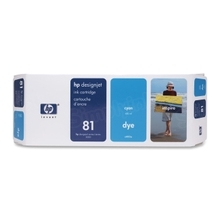 Original HP 81 Cyan Ink Cartridge in Retail Packaging (C4931A)