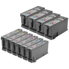 Compatible Lexmark Bulk Set of 10 100XL Ink Cartridges 4 Black (14N1068) and 2 each of: Cyan (14N1069), Magenta (14N1070) and Yellow (14N1071)