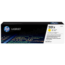 HP 201X (CF402X) Yellow High Yield Original Toner Cartridge in Retail Packaging