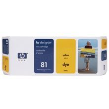 Original HP 81 Yellow Ink Cartridge in Retail Packaging (C4933A)