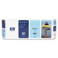 Original HP 81 Light Cyan Ink Cartridge in Retail Packaging (C4934A)