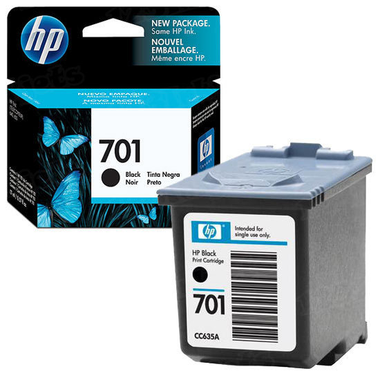HP 701 Black Original Ink Cartridge CC635A