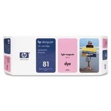 Original HP 81 Light Magenta Ink Cartridge in Retail Packaging (C4935A)