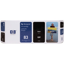 Original HP 83 Black Ink Cartridge in Retail Packaging (C4940A)