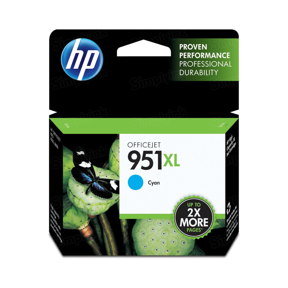 HP 951XL Cyan Original Ink Cartridge CN046AN