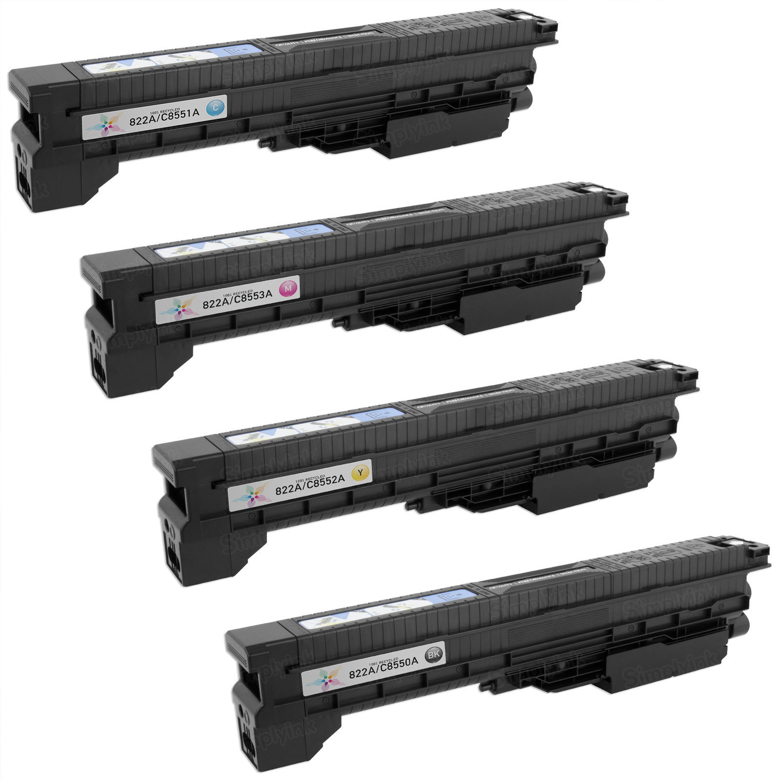 Remanufactured Replacement for HP 822A (Bk, C, M, Y) Set of 4 Toners