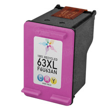 Remanufactured Replacement Ink Cartridge for F6U63AN (HP 63XL) High-Yield Color