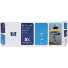 Original HP 83 Cyan Ink Cartridge in Retail Packaging (C4941A)