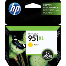 Original HP 951XL Yellow Ink Cartridge in Retail Packaging (CN048AN) High-Yield