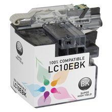 Compatible LC10EBK Super High Yield Black Ink Cartridge for Brother