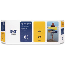 Original HP 83 Yellow Ink Cartridge in Retail Packaging (C4943A)