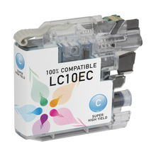 Compatible LC10EC Super High Yield Cyan Ink Cartridge for Brother
