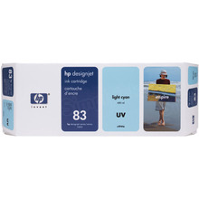 Original HP 83 Light Cyan Ink Cartridge in Retail Packaging (C4944A)