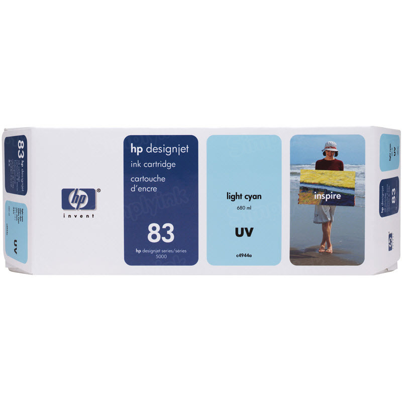 HP 83 Light Cyan Original Ink Cartridge C4944A