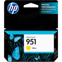 Original HP 951 Yellow Ink Cartridge in Retail Packaging (CN052AN)