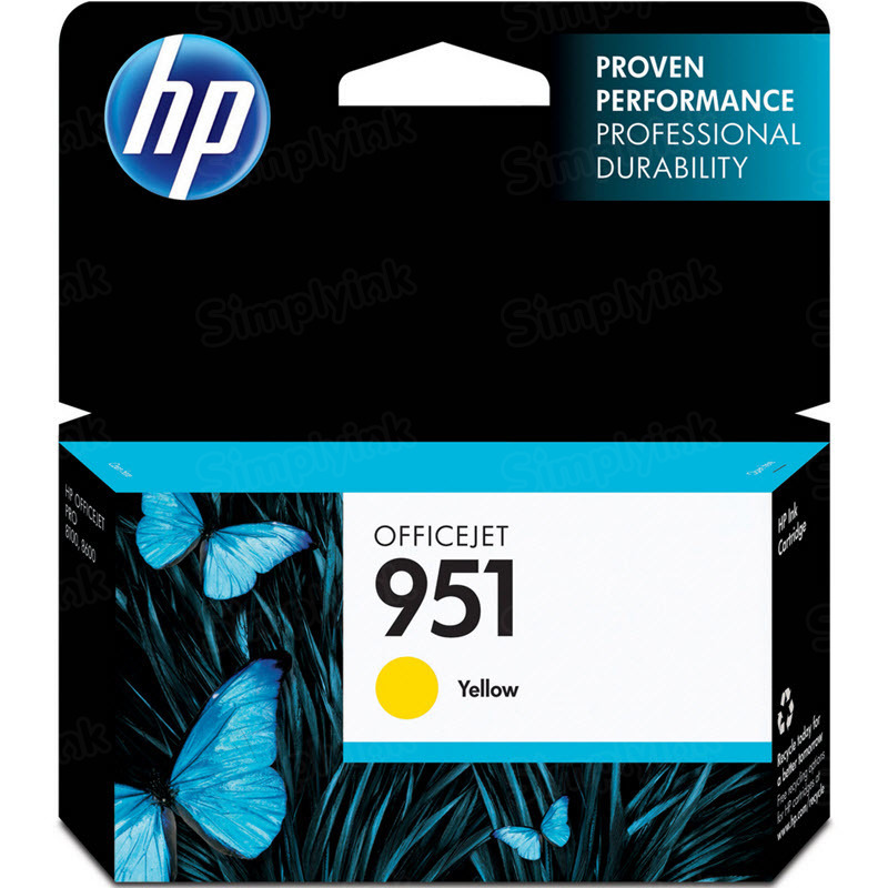 HP 951 Yellow Original Ink Cartridge CN052AN