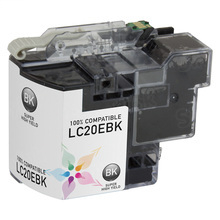 Compatible LC20EBK Super High Yield Black Ink Cartridge for Brother