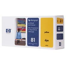 Original HP 81 Yellow Printhead & Cleaner in Retail Packaging (C4953A)